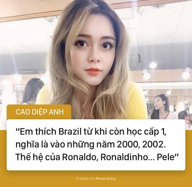 Hot girl Nóng cùng World Cup và câu nói bị bóc phốt trên sóng trực tiếp - Ảnh 1.